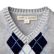 V-Neck Sweater Vest - Hope & Henry Boy