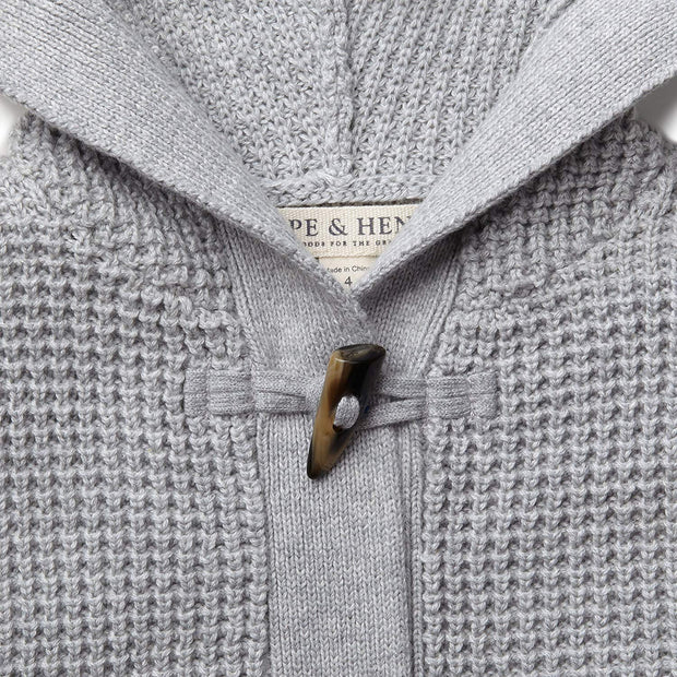 Waffle Stitch Hooded Sweater - Hope & Henry Boy