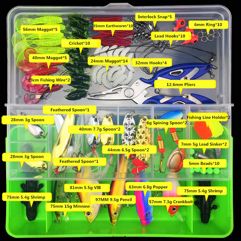 100pcs Lure Kit Set