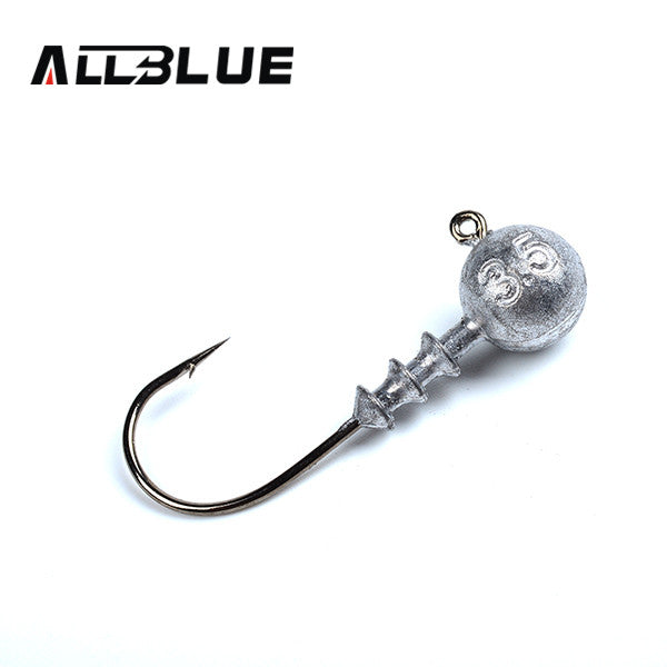 Exposed Lead Jig Head 3.5g 5g 7g 10g Barbed Hook, 10pcs/lot