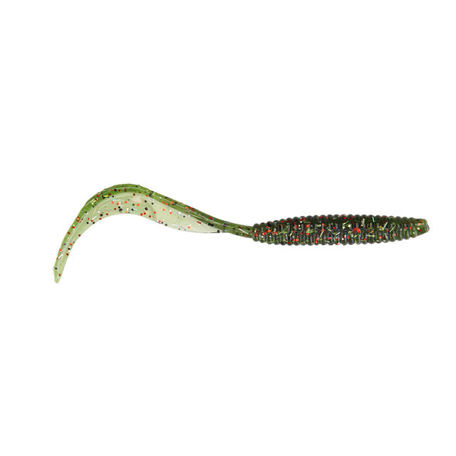 8pcs/lot Long Tail Grubs 10cm 2.4g Curly Tail Soft Lure