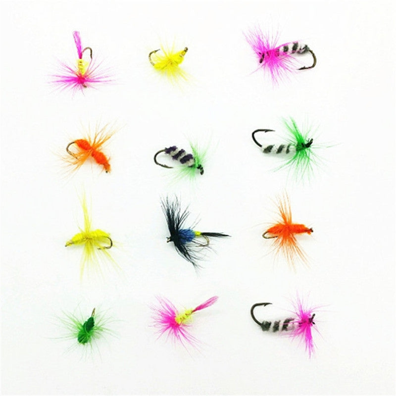 2pcs Lures Fly fishing Hooks Butterfly Insects Style