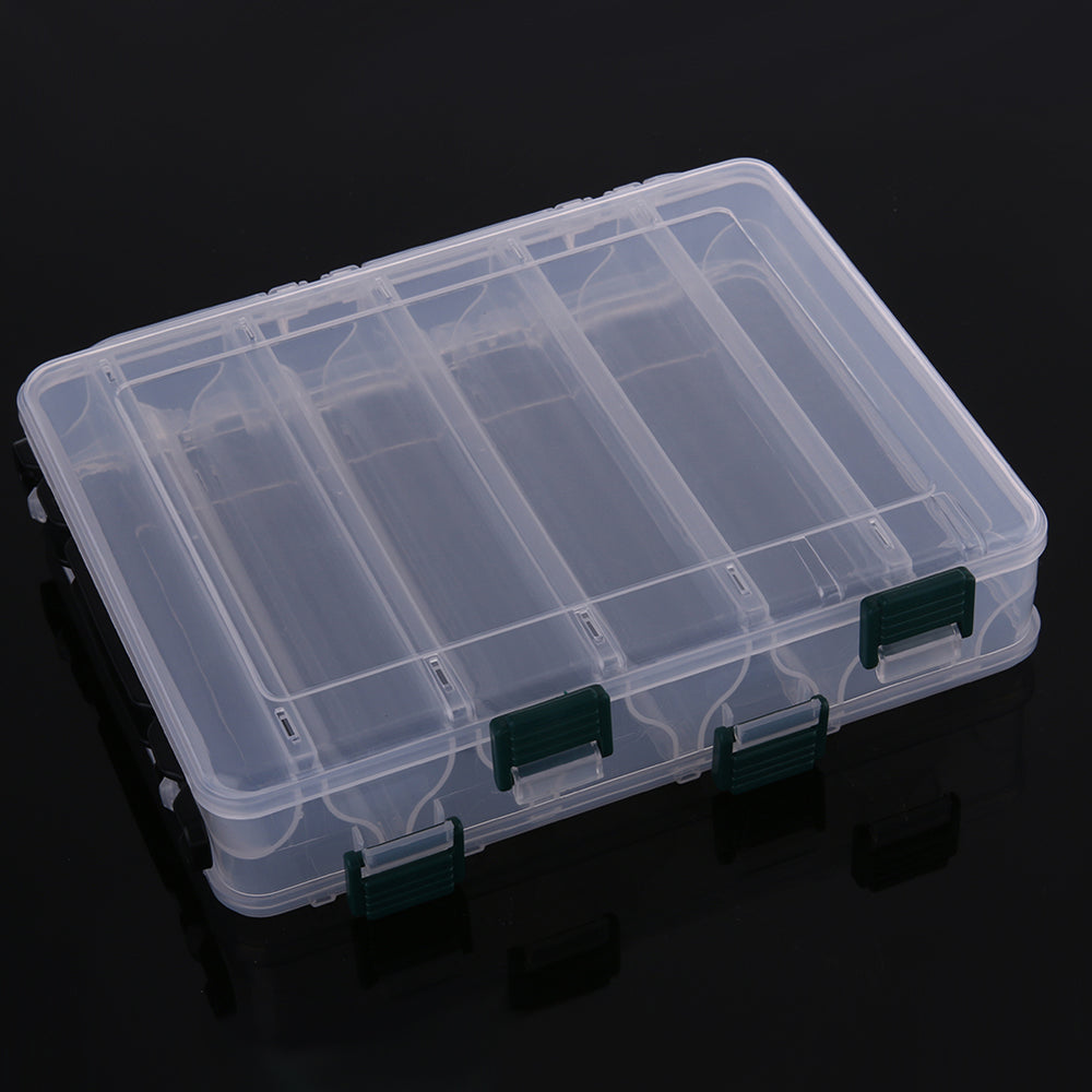Double Sided Ten Compartment Transparent Box