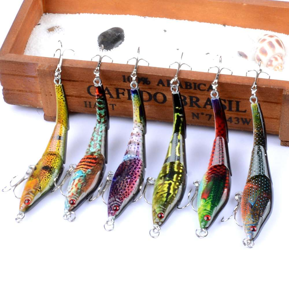 6pcs/lot 3 Sections VIB Fishing Lures