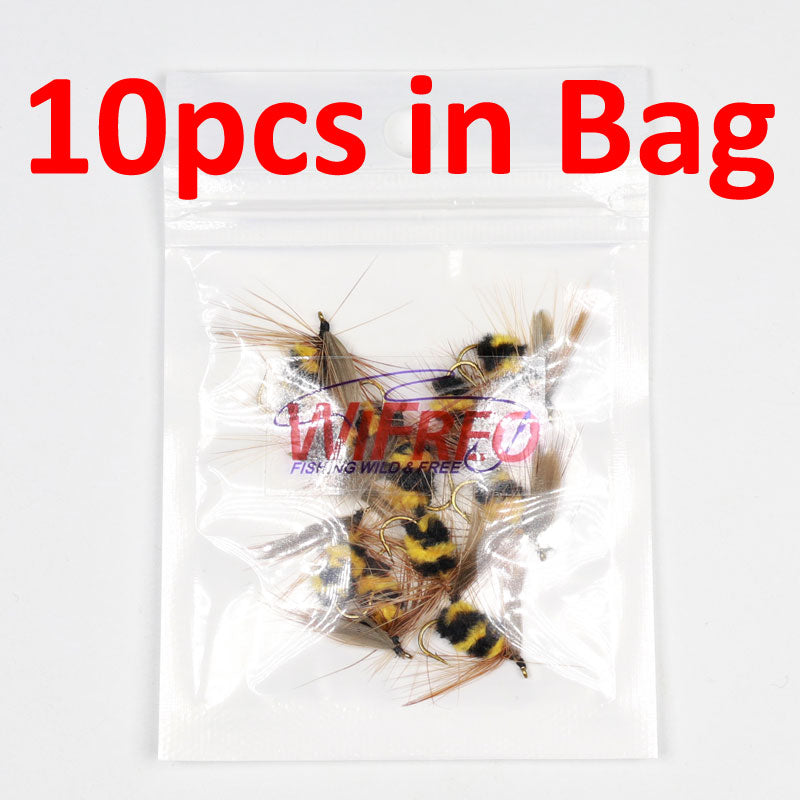 10pcs Artificial Insect Bait, Bumble Bee Fly