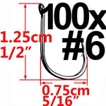 100pcs / 50pcs Circle Carp Eyed Fishing Hook