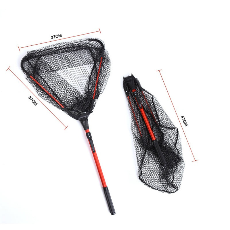 Practical Aluminum Alloy 80cm Retractable Fishing Net