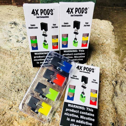 4x Empty Pods (4 pack) - WholesaleVapor.com