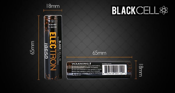 Blackcell Electron 18650 Battery (2 Pack) - WholesaleVapor.com