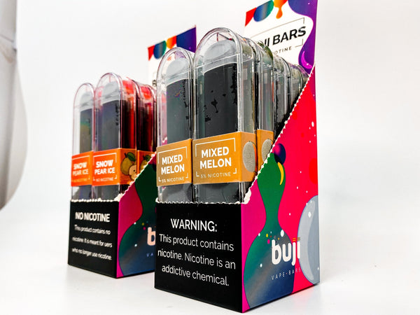Buji Bars Slim NO NICOTINE - 10 Pack - NY STATE COMPLIANT Flavored Disposable - WholesaleVapor.com