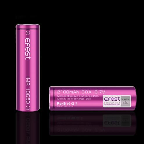 Wholesale Vapor Efest IMR 18650 2100mAh 30A Flat Top Battery (Tear Resistant)