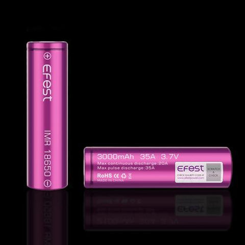 Wholesale Vapor Efest IMR 18650 3000mAh 35a Flat Top Battery (Tear Resistant)