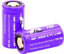 Efest IMR purple 18350 700mAH 10.5A flat top battery