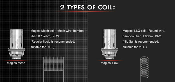 Horizon Magico Replacement Coils (3 Pack) - WholesaleVapor.com
