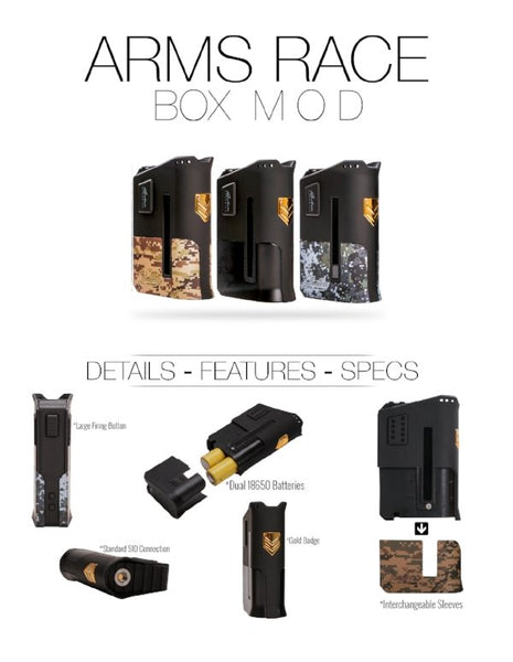 Limitless Arms Race Box Mod - WholesaleVapor.com