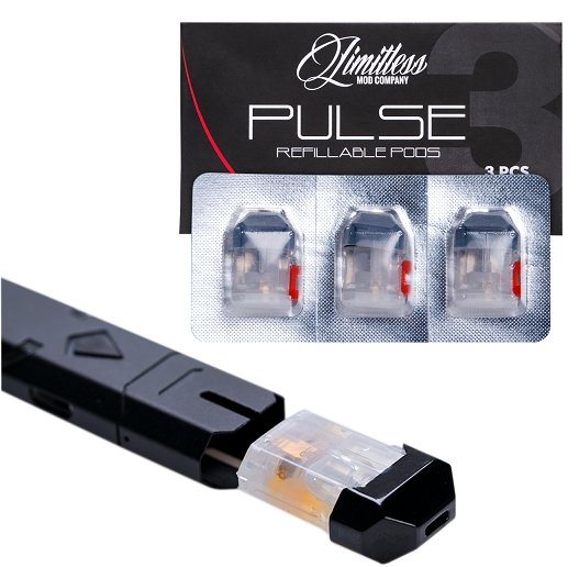 Limitless Ply Rock Pulse Replacement Pods (3 Pack) - WholesaleVapor.com