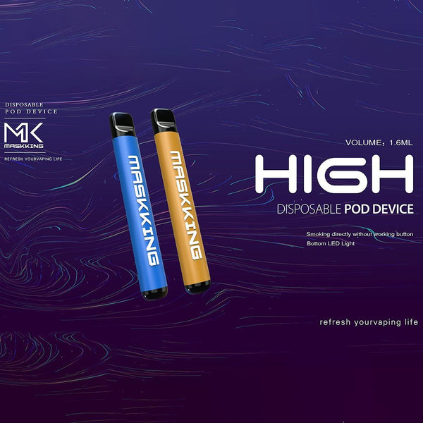 Maskking High Kit 360mAh Disposable Pod System (Single Unit) - WholesaleVapor.com