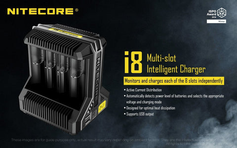 Nitecore i8 Multi-Slot Intelligent Charger - WholesaleVapor.com