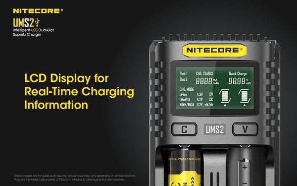 Nitecore UMS2 Intelligent USB Dual-Slot Superb Charger - WholesaleVapor.com