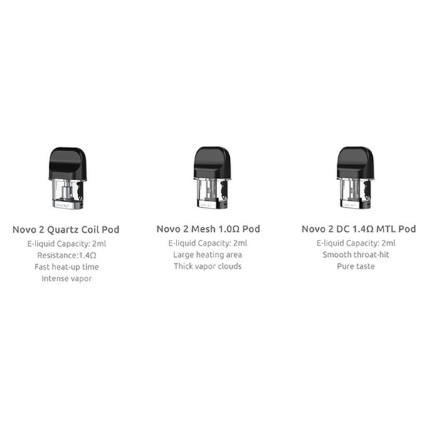 Smok NOVO 2 Replacement Pods (3 Pack) - WholesaleVapor.com