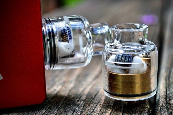 Trinity Competition Glass Cap (Fits Multiple RDAs) - WholesaleVapor.com