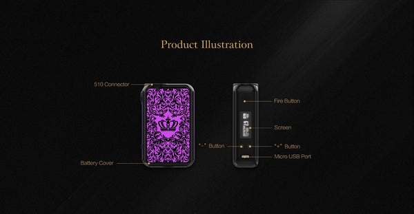 Uwell Crown 4 (IV) 200W TC Box Mod - WholesaleVapor.com
