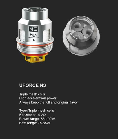 VooPoo Uforce N3 Replacement Coils - 5 Pack - WholesaleVapor.com