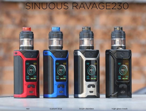Wismec Sinuous RAVAGE230 Starter Kit - WholesaleVapor.com