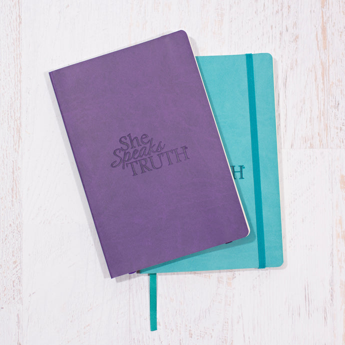 She Speaks Truth Journal - Turquoise or Purple