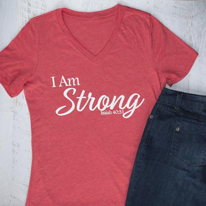 I Am STRONG - V-Neck Tee