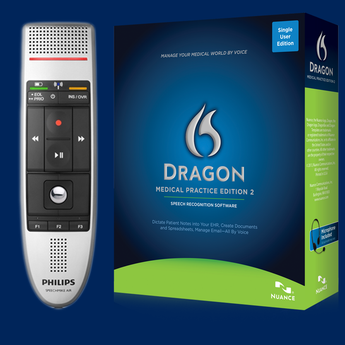 Dragon Medical Practice Edition 2 with Philips Speechmike Air