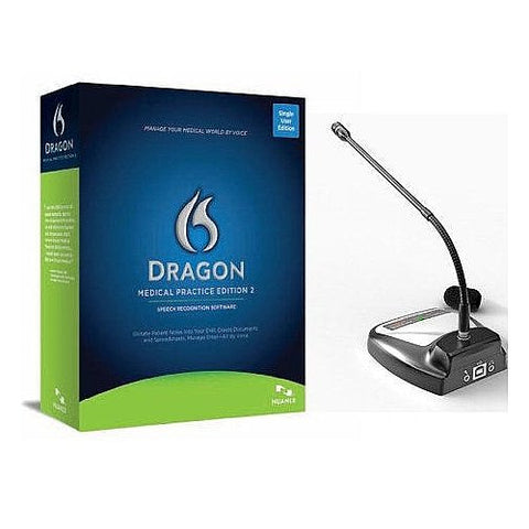 Dragon Medical Practice Edition 2 with Speechware Desktop Microphone