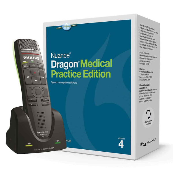 Dragon Medical Practice Edition 4 with Philips Speechmike Air Premium