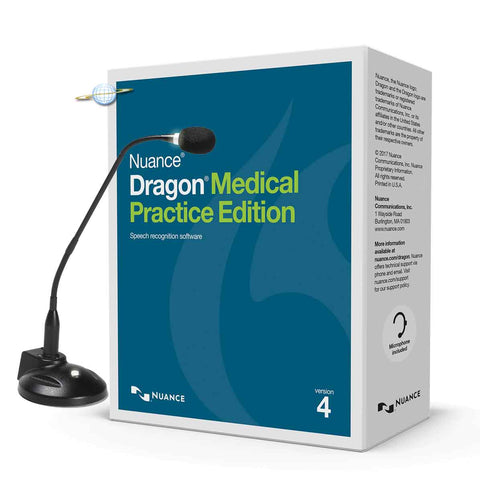 Dragon Medical Practice Edition 4 with Miclabs Super-G Desktop Microphone