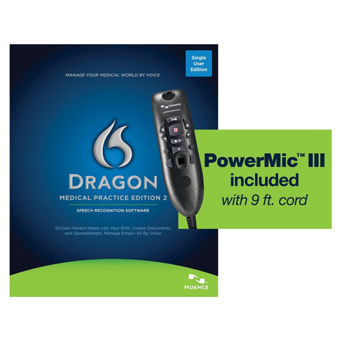 Dragon Medical Practice Edition 2 with Powermic 3