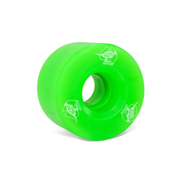 BONT Quad Roller Skate Wheels 83a Green - Set of 8