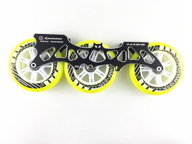 XUANWU Inline Speed Skate Frame with 3X110mm Wheels