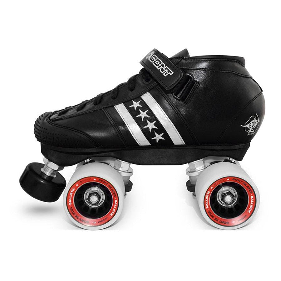 Original Bont Lowcut Quadstar Roller Skates with Genuine Leather Heatmouldable Boots