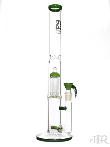 2K Glass Art - Stemline Diffuser Straight Tube With Tree Perc (18