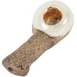 Celebration Pipes Volcanic Stone - 22k Gold Inlay Opal