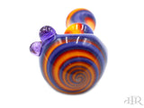 JSquab Glass Jackson B - Purple, Orange, Red Full Color Spoon Hand Pipe