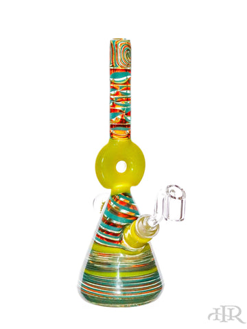 MD Glass - Yellow Donut Chaos Mini Beaker (9