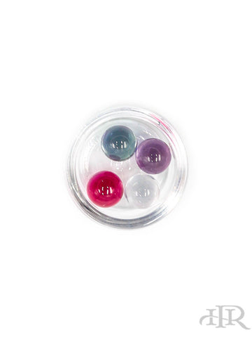 Ruby Pearl Co - 6mm Mixed Sapphire and Ruby Set (4 Pack)