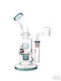 Tsunami Glass Concentrate Dab Bucket Ball Rig Teal Stock