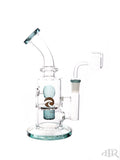 Tsunami Glass Concentrate Dab Bucket Ball Rig Teal