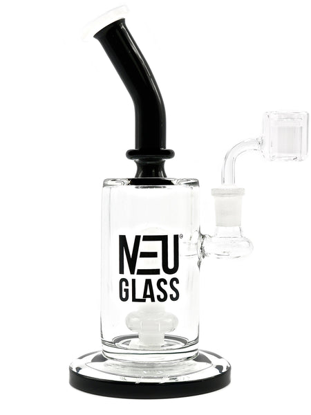 "NEU Glass Water Pipe Concentrate Rig Shower Head - Bubble Middle (9"")"