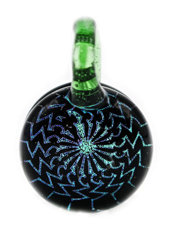G Wiz Glass - DIchroic Fractal Pendant (32mm)
