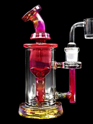Leisure Glass - Rose 14mm Incycler (7