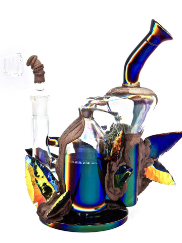 Envy Glass - Dichroic Obsidian Arrowhead Recycler (8