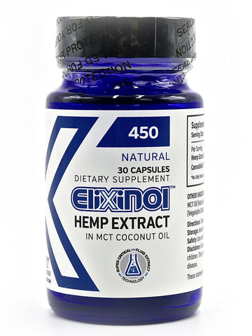 Elixinol - Hemp Extract Capsules (450mg)